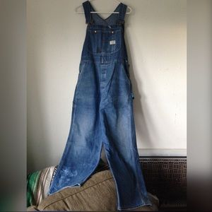 Vintage 60s 70s Big Mac Overalls Full Length Jeans
